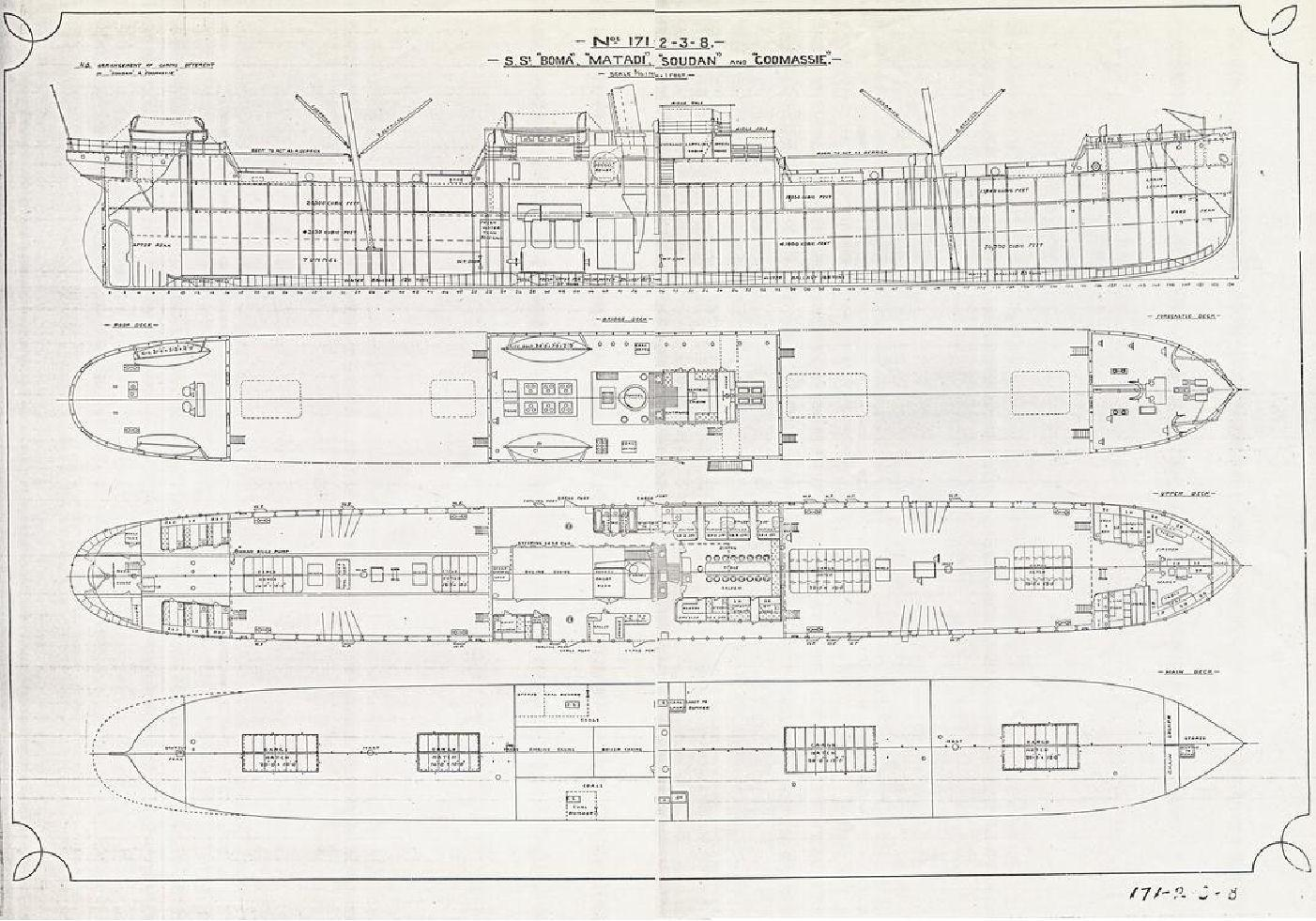 Plans of Boma and sister ships